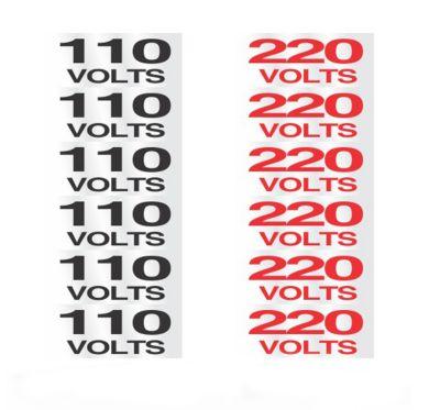 Placa Alumínio Etiqueta de Voltagem 110 e 220V, 12x12