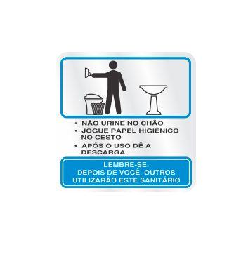 Placa Procedimento Sanitário Masculino, Alumínio, 12x12