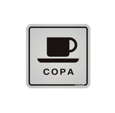 Placa Alumínio Copa, 12x12
