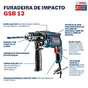 Furadeira de Impacto GSB13 RE 127V Azul