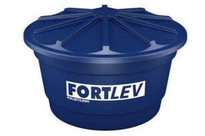 Caixa de Água Polietileno 1500L Tampa Encaixe Azul