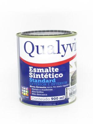 Esmalte Sintético Brilhante Vermelho 900ml Qualycor Standard para Madeiras e Metais