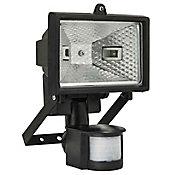 Refletor Halogeno 150W com Sensor de Presença Auto V Preto