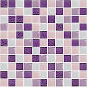 Pastilha de Vidro Textura Mix 2,5x2,5 30x30cm Lilás