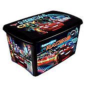 Caixa Decora Alta Carros, Colorido, 40x28x23cm