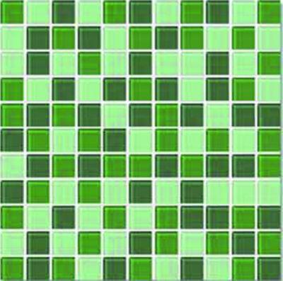 Pastilha Vidro Miscelanea Mix-03, Verde, 2.5x2.5, Placa 30x30