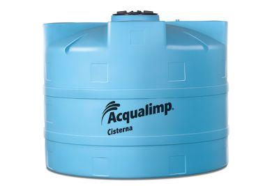 Cisterna Água Chuva 2.800L Com Filtro De Água, Registro Esfera, Ladrão, Conjunto De Sucção Com Flutuador, Filtro De Água De Chuva, Freio De Água E Gaxeta 100Mm Azul