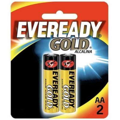 Pilha Alcalina Eveready Gold AA 2 Unidades