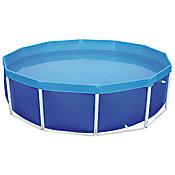 Piscina Estrutural 4.500L Azul Redondo
