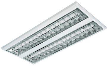 Luminária TD60 Chapa de Aço 2x14w Bivolt Branco