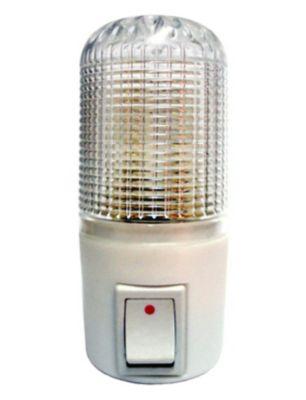 Luz Noturna Manual com LEDs 127V 7,5x13,5cm Cristal