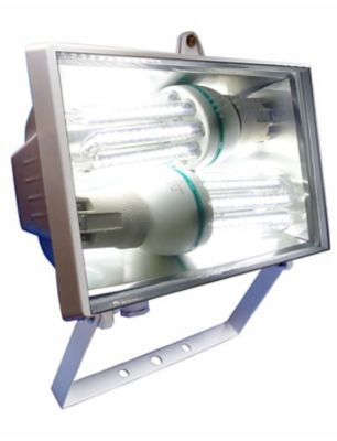 Refletor para 2 Lâmpadas Fluorescente 25W 26,05x12cm Branco