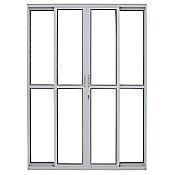 Porta de Correr de Alumínio 4 Folhas Vidro 210x200cm Brilhante