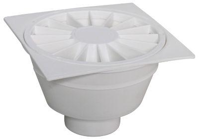 Ralo Sifonado Quadrada Branca 10,5Cm