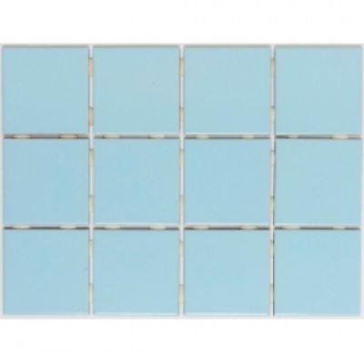 Revestimento Piscina 10x10cm Caixa 1,95m² Telado Azul