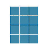 Revestimento Ref.1045 Capri Caixa 1.95m², Azul Capri, 10x10cm