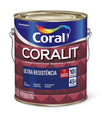 Esmalte Sintético Brilhante Azul Del Rey 3,6L Coralit Premium para Madeiras e Metais