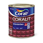 Esmalte Sintético Alto Brilho Camurça 900ml Coralit Premium para Madeiras e Metais