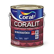 Esmalte Sintético Acetinado Branco Gelo 3,6L Coralit Premium para Madeiras e Metais