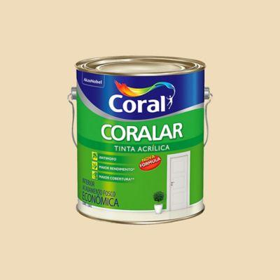 Tinta Fosco Acrílica Coralar Econômico 3,6L Marfim