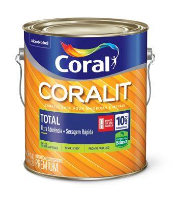 Esmalte Sintético Acetinado Branco 3,6L Coralit Premium para Madeiras e Metais
