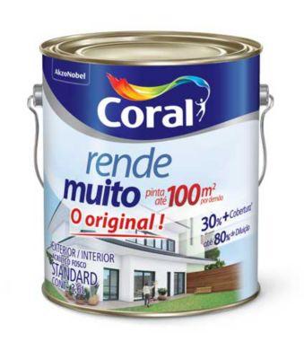 Tinta Acrílica Fosco Rende e Muito Standard 3,6L Branco