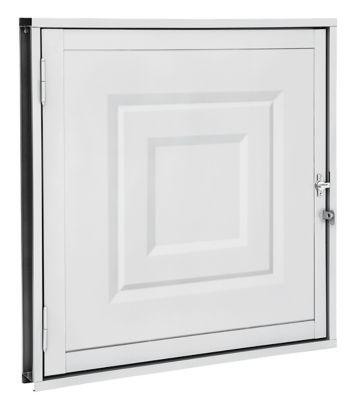 Portinhola Com Almofada Aço Branco Direita 60x60x5cm Pratika