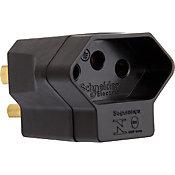 Adaptador de Sistema Reverso 2P+T para 2P Chatos+T 15V 250V Preto