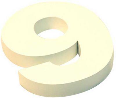 Algarismo Cx N 9 Inox Branco 15cm