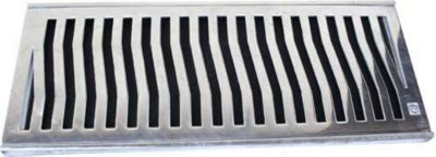 Conjunto Grelha e Porta Grelha, Alumínio Polido, 20x50cm