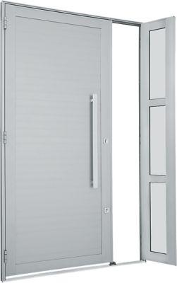 Porta Lambril Horizontal de Aluminio Esquerdo com Seteira e Puxador 216x120cm Branco Alumifort