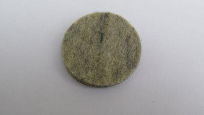 Feltro Redondo com 4 Peças 37mm Cinza