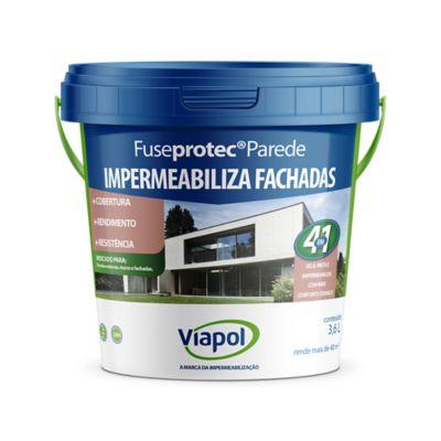 Viaflex Parede Balde, Branco, 3,6L