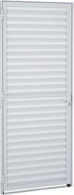 Porta Veneziana Alumínio Branco Direita 215x87x3,15cm Alumifit