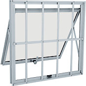Janela Maxim-ar Aluminio Grade Classic 60x60x4,7cm Abertura Projeção Externa Branco Alumifit