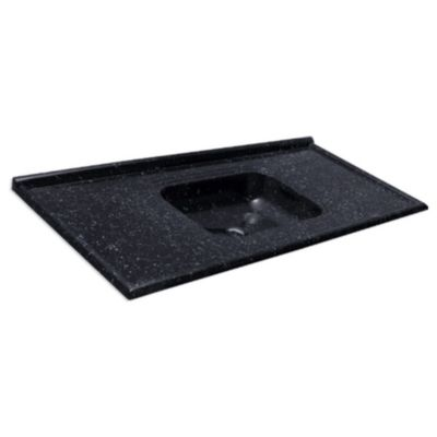 Pia Sintética Standart Granitada 150x55cm Pedra Escura
