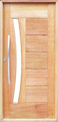 Porta Pivotante BBB com Visor Cedro Arana 210x100x14cm