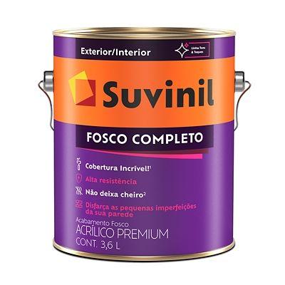 Tinta Fosco Exterior e Interior Fosco Completo Premium 3,6L Branco