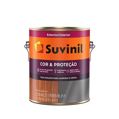 Esmalte Sintético Brilhante Platina 3,6L Cor e Proteção Premium para Madeiras e Metais