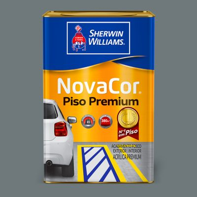 Tinta Fosco Novacor Piso Liso 18L Cinza