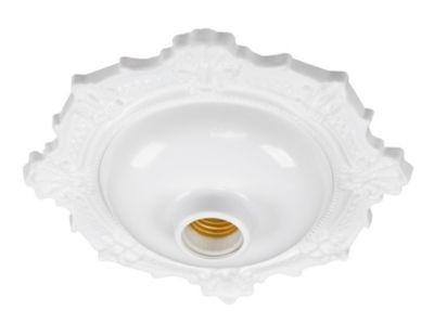 Plafonier Decorativo BVC Bivolt Plástico Branco