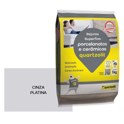 Rejunte para Porcelanato 5kg Cinza Platina