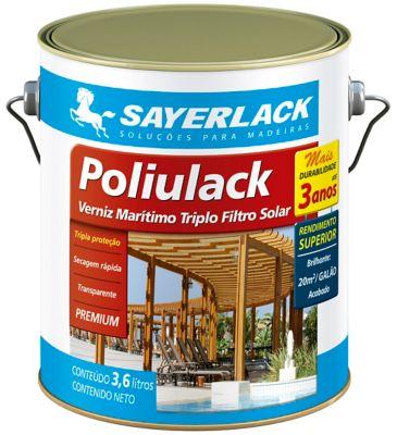 Verniz Poliulack Transparente 3,6L Interior e Exterior