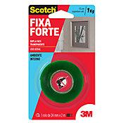 Fita Fixaforte Scoth 25x2m, Transparente 25mmx2M