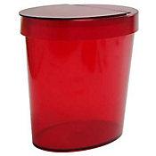 Lixeira Oval R, Vermelho Transparente 26X18X24