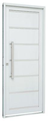 Porta Lambri e Friso Aço Branco Direita 217x88x8cm Pratika