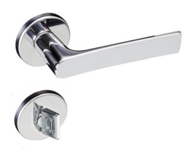 Fechadura Mari 698-80B Banheiro Cromado 55mm