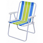 Cadeira de Praia Reclinavel Alta Sortido