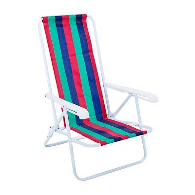 Cadeira de Praia Reclinável 4 Posições Sortido