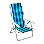 Cadeira de Praia Reclinável Alta Sortido